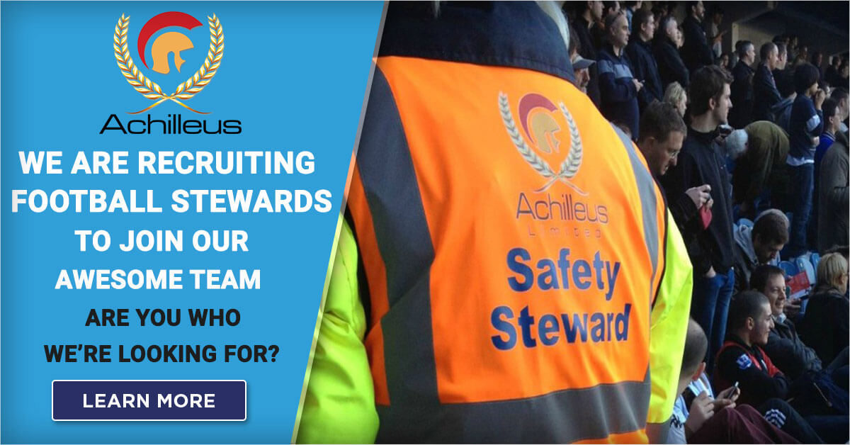 Achilleus Security-Stewarding-Football-Steward-Job-Recruitment